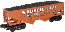 Atlas O Industrial Rail Waddell hopper car, 3 rail, 027