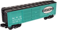 Atlas O Industrial Rail NYC green box car, 3 rail, 027