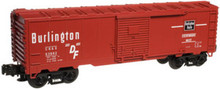 Atlas O Industrial Rail CB&Q  box car, 3 rail, 027