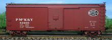 Atlas O PMcK&Y/NYC  40' steel  box car, 3 or 2 rail