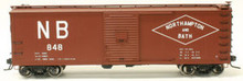 Atlas O Northhampton & Bath  USRA 40'  box car, 3 or 2 rail