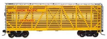Atlas O UP yellow 40' stock car, 3 rail or 2 rail
