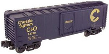 Atlas O Industrial Rail Chessie  reefer, 3 rail, 027