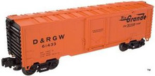 Atlas O Industrial Rail Rio Grande reefer, 3 rail, 027