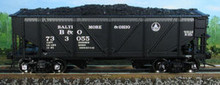 Atlas O B&O steel rebuilt 2 bay Hopper, 3 rail