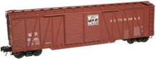 Atlas O WP 50' single sheathed box car, 3 or 2 rail