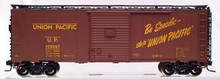 Atlas O Union Pacific 40' steel box car,  3 or 2 rail