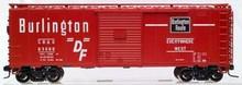 Atlas O CB&Q  40' steel box car,  3 rail or 2 rail