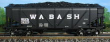 Atlas O Wabash steel rebuilt 2 bay Hopper, 3 rail