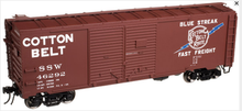 Atlas O SSW (cotton Belt) 1930's-1960's style 40' DD steel box car, 3 rail or 2 rail