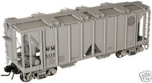 Atlas O WM (circle logo)  ACF Cov Hopper, 3 rail or 2 rail