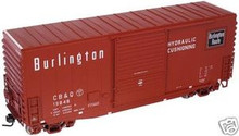 Atlas O CB&Q  40' Hy-cube box car, 3 rail or 2 rail