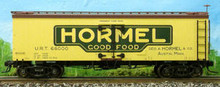 Atlas O Hormel Meats 36' reefer, 3 rail  or 2 rail