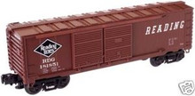 Atlas O Industrial Rail Reading   box car, 3 rail, 027