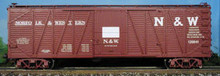 Atlas O N&W  40'  single sheathed box car, 3 or 2 rail