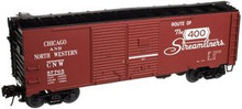 Atlas O C&NW 1930's-1960's style 40' DD steel box car, 3 rail or 2 rail