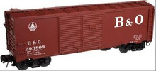 Atlas O B&O 1937 style 40' DD steel box car, 3 rail or 2 rail