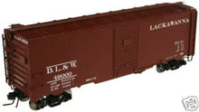 Atlas O Lackawanna 40' steel box car, 3 rail or 2 rail