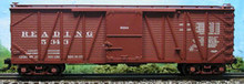 Atlas O Reading single sheathed box car, 3 or 2 rail