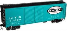 Atlas O NYC 1937 style 40' DD steel box car, 3 rail or 2 rail