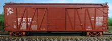 Atlas O D&H  40'  single sheathed box car, 3 or 2 rail