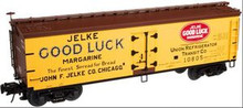 Atlas O Jelke Good Luck Margarine 40' wood reefer, 3 rail or 2 rail