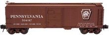 Atlas O PRR X-29 (shadow keystone) steel box car,  3 rail or 2 rail