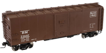 Atlas O B&M 1937 style 40' box car,, 3 or 2 rail