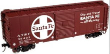 Atlas O Santa Fe  40' steel box car,  3 rail or 2 rail
