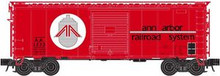 Atlas O Ann Arbor  40' steel box car,  3 rail or 2 rail