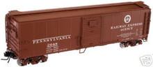 Atlas O PRR REA X-29 steel box car,  3 rail or 2 rail