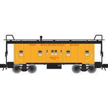 Atlas O MILWAUKEE ROAD Bay Window Caboose, 3 rail