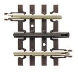 "Atlas O 3 rail package of 4 pieces 1 1/4"" straight  track"