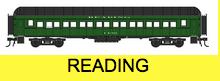 Golden Gate Depot Reading  70' passenger cars, 6 car set , 2 rail