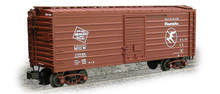 Weaver MILW ribbed side box car, Hiawatha Logo