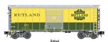 Atlas O (trainman) Rutland 40' Steel Box car, 3 rail or 2 rail