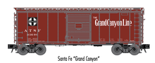 Atlas O (trainman) Santa Fe Grand Canyon 40' Steel Box car, 3 rail or 2 rail