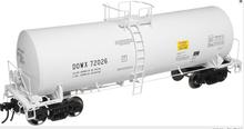 Atlas O DOW chemical 17,600 gal tank car, 2 rail or 3 rail