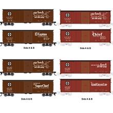 Atlas O Santa Fe 40' USRA Steel Box Car 4 Pack, 2 rail