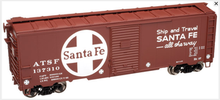 Atlas O Santa Fe (1937 style)  40' Steel Box car, 3 rail or 2 rail