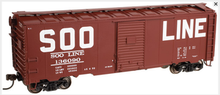 Atlas O Soo Line (1937)  40' Steel Box car, 3 rail or 2 rail