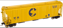 Atlas O Chessie  PS4427 50' Covered Hopper, 3 rail or 2 rail