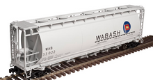 Atlas O Wabash  Cylindrical Covered  Hopper, 3 rail or 2 rail