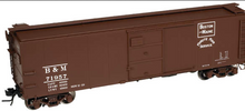 Atlas O B&M  X-29 style   40' box car, 3 rail or 2 rail
