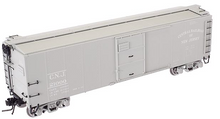 Atlas O CNJ  X-29 style  (gray)  40' box car, 3 rail or 2 rail