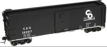 Atlas O C&O  X-29 style  (black)  40' box car, 3 rail or 2 rail