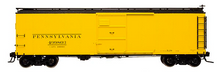 Atlas O PRR m/w yellow X-29 style  40' box car, 3 rail or 2 rail