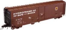 Atlas O CGW 50' plug door box car, 3 rail or 2 rail