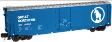 Atlas O GN (blue)  50' plug door box car, 3 rail or 2 rail