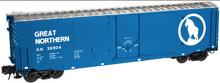 Atlas O GN (blue)  50' plug door box car, 3 rail or 2 rail